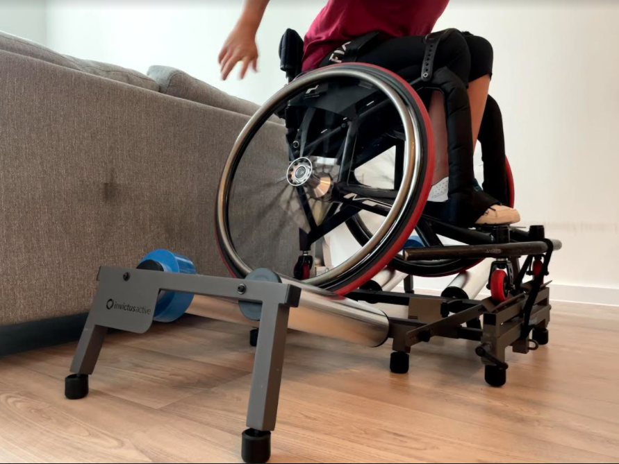 Rollers for basketball wheelchair