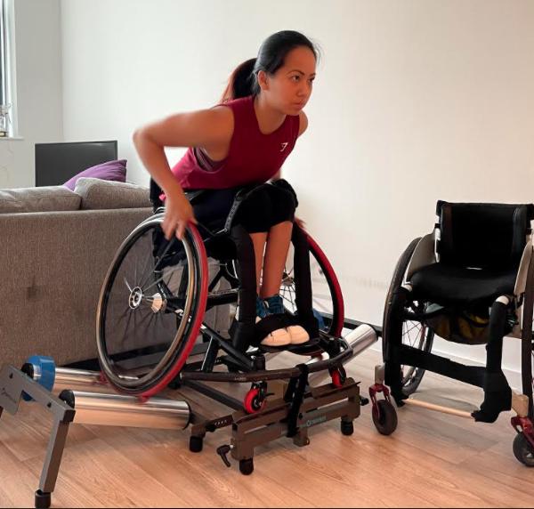Training rollers wheelchair sport basketball