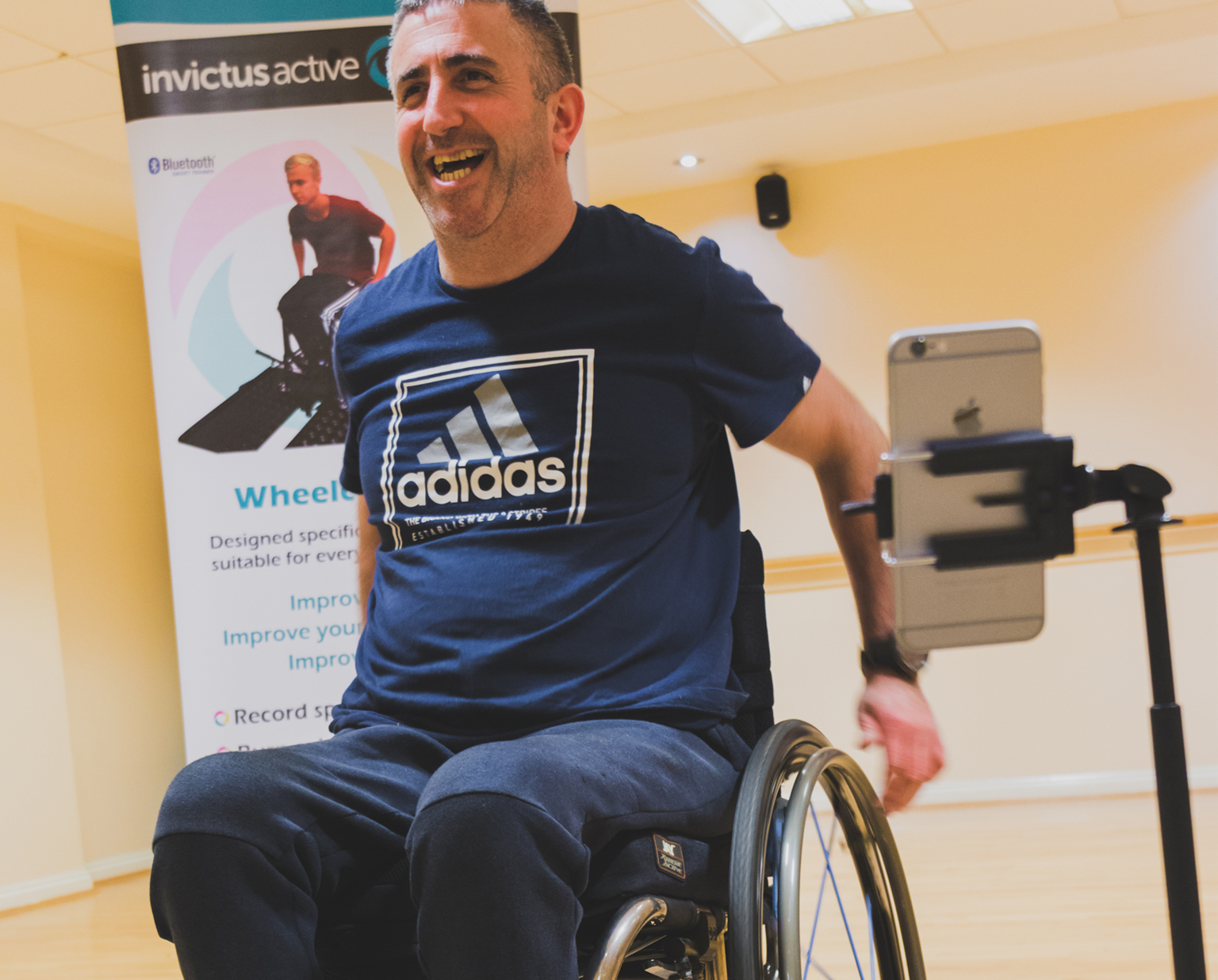 Core muscles wheelchair user