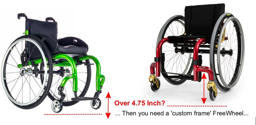 High footrest custom FreeWheel