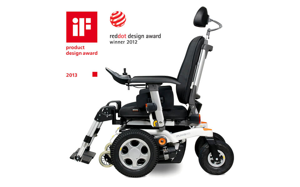 puma 40 power wheelchair award winning design nl