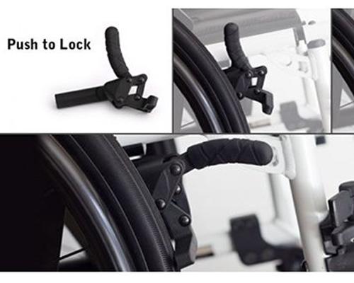 Push To Lock Wheelchair Brakes