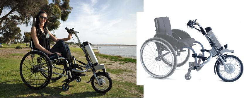 Wheelchair electric attachment