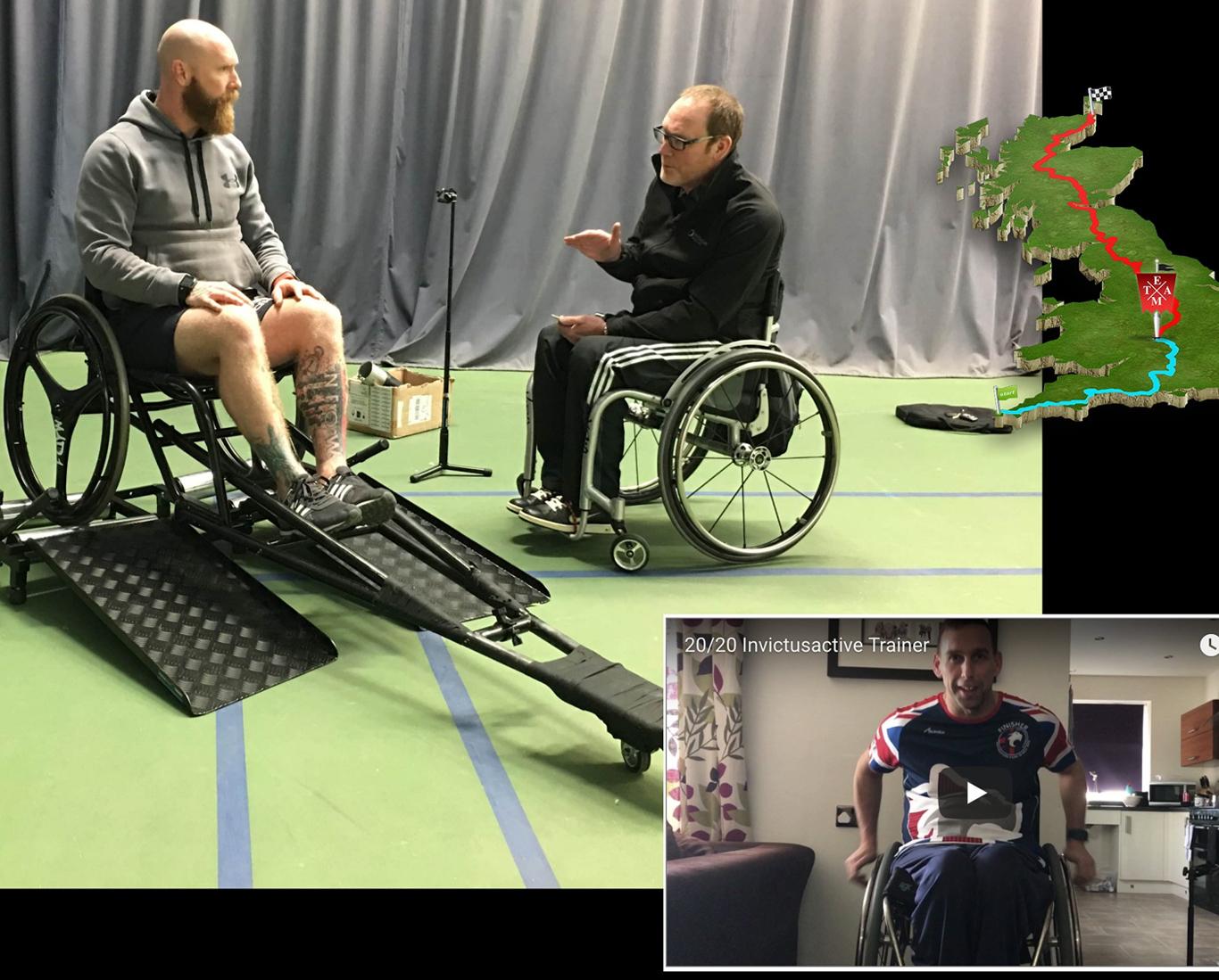 Training for a marathon using a wheelchair
