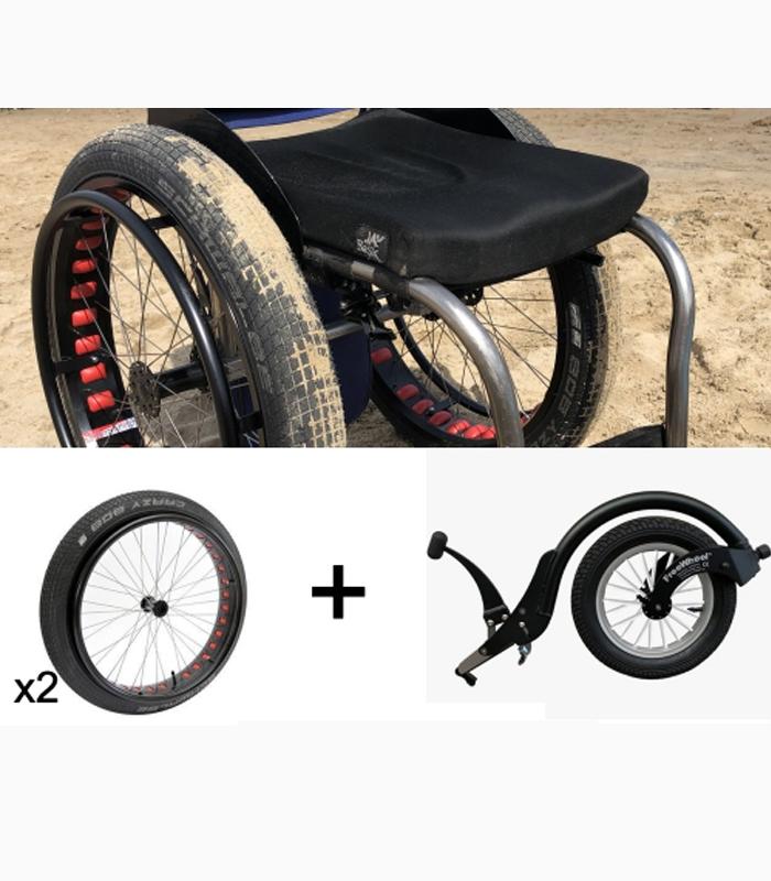 Wheelchair beach conversion kit