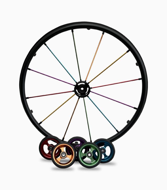 Multi coloured Vigeo wheels