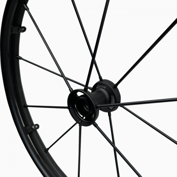 Black spokes wheelchair wheels Vigeo