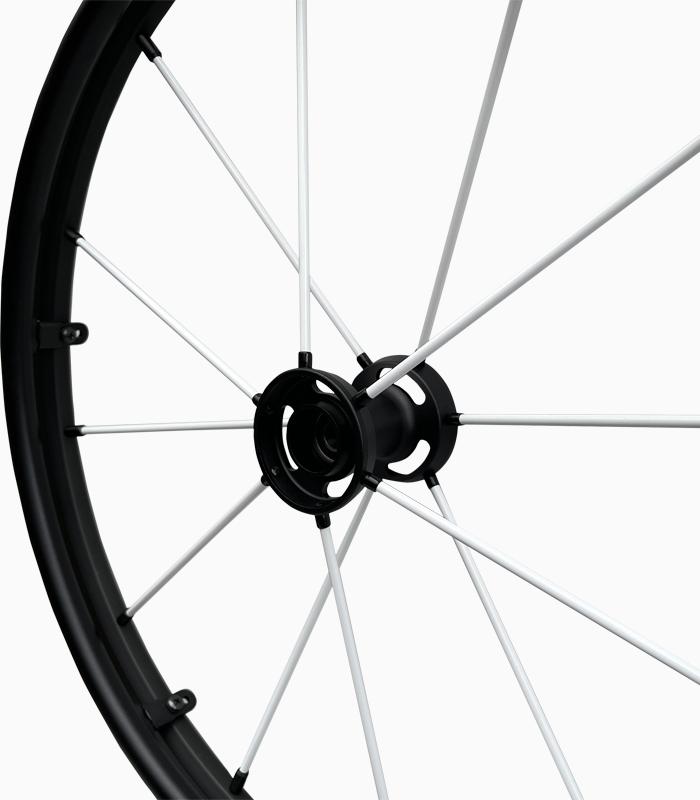 White spokes Vigeo wheels