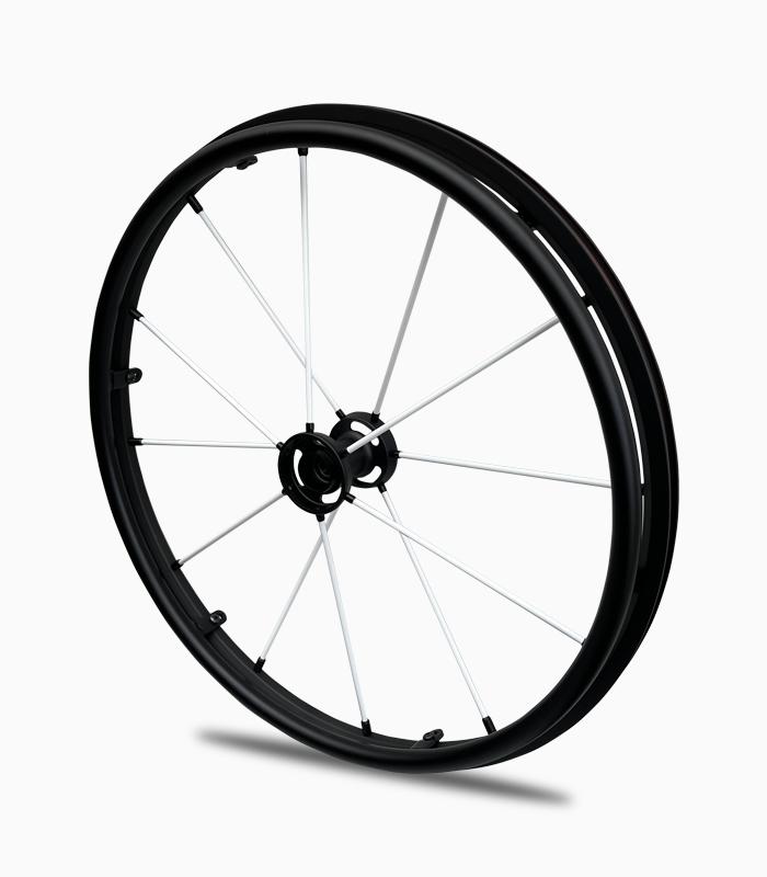 White wheelchair wheels